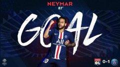 连续四场法甲比赛,内马尔都为巴黎首开纪录