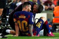巴萨官方确认梅西伤情:或将缺席欧冠联赛