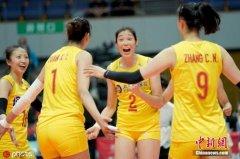 中国女排3:1战胜荷兰 喜迎女排世