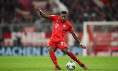 德媒:阿拉巴考虑转会原因之一是拜仁失信没让他踢中场